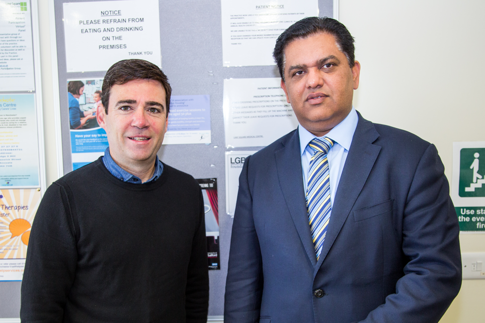 Mayor of Greater Manchester, Andy Burnham and Dr Zahid Chauhan