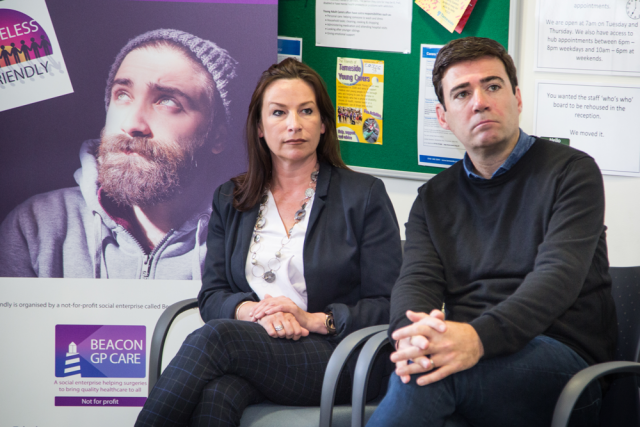 Chief Executive of BARDOC, Vicky Riding and Mayor of Greater Manchester, Andy Burnham